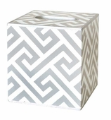 Tissue Box Cover Greek Key