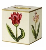 Tissue Box Cover Red Tulip