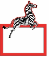 Unique Place Cards Zebra