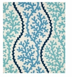 Unique Shower Curtain Coral Blue