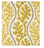 Unique Shower Curtain Coral Yellow