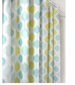 Unique Shower Curtains Aqua Morroccan
