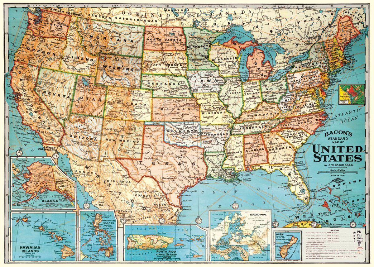 America Road Map Poster Images Map Of Usa Road Map Poster - Us road map poster