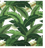 Waverly Swaying Palms Aloe - Untreated Swatch