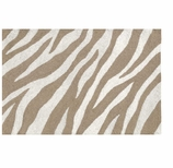 Zebra Rug Brown 2x3