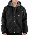 Carhartt Sandstone Multi-Pocket Hooded jacket - sherpa lined