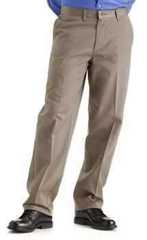 Lee Mens Stain Resistant Plain Front pants