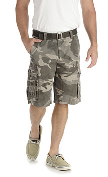 Lee Mens Wyoming Cargo shorts - Ash Camo