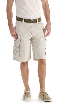 Lee Mens Wyoming Cargo shorts - Cement