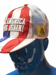 Make America Strong Again Stars and Stripes Trucker Hat