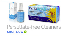 Persulfate-Free Retainer Cleaners