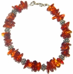 Amber and Bali Silver Bracelet