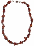 Amber and Bali Silver Necklace