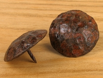 "1.75"" Dia. Rusty Hammered Nailhead Clavos  - Package of 10"