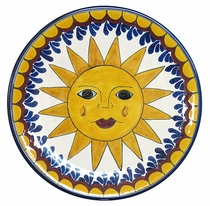 "11"" Hanging Sun Talavera Mexican Plate"