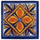 15 Talavera Tiles - Geometric Flower Design - PP2159