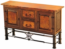 2 Door 2 Drawer Console with Pablo Base