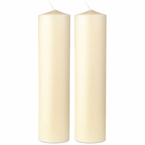 "8"" x 2"" Diameter Beeswax Altar Candles - Set of 2"