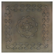 "2 - Mexican Embossed Tin Ceiling Tiles - 12"" - Style C"