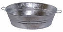 #3 Round Galvanized Tin Beer Tubs - Large - Set of 2