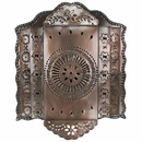 3-Tier Mexican Punched Tin Wall Sconce