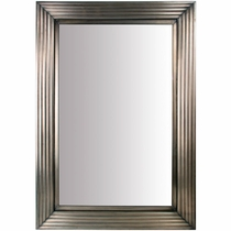 Aged Tin Beveled Mirror