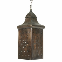 Aged Tin Box Hanging Fixture