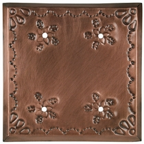 Aged Tin Double Blank Cover - Star