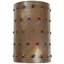 Aged Tin Multi-Color Marble Wall Sconce