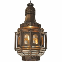 Aged Tin Octagonal Colonial Window Light Fixture
