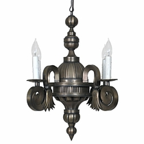 Aged Tin Spanish Colonial Chandelier