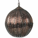 Aged Tin Sphere with Marbles Hanging Light Fixture