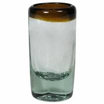 Amber Rimmed Shot Glass - Set of 4