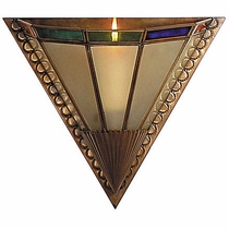 Art Deco Multi-Color Sconce