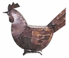 Articulated Metal Hen Sculpture