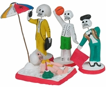Assorted Working-Playing Skeletons