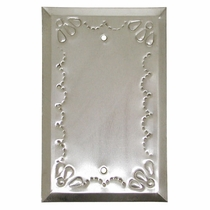 Blank Natural Tin Switchplate - Star