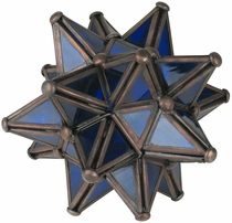 Blue Glass Star Votive Candleholder