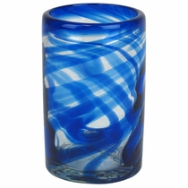Blue Swirl Highball Glass - Set of 4