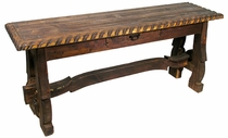 Braided Ox Yoke Sofa Table