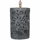 Carved Black Clay Hanging Pendant Light