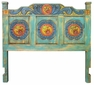 Carved Painted Wood Headboard - Queen and King