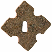 "Clover Dash Backing Metal Plate 1"" - Per Dozen"