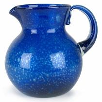 Cobalt Blue Bubble Glass Pitcher