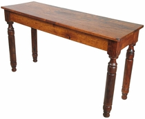 Colonial Style Mesquite Sofa Table