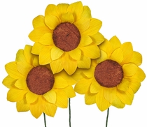 Corn Husk Sunflower - Bouquet of 6