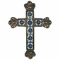 Crown Tip Tin and Talavera Tile Cross