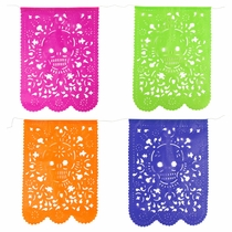 Day of the Dead Paper Picado Banner - Vertical - Set of 2
