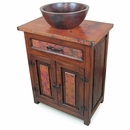 Deer Valley Sink Cabinet w/ Copper Vessel Sink