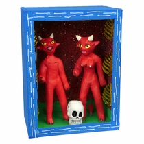 Devil Couple Skeleton Diorama